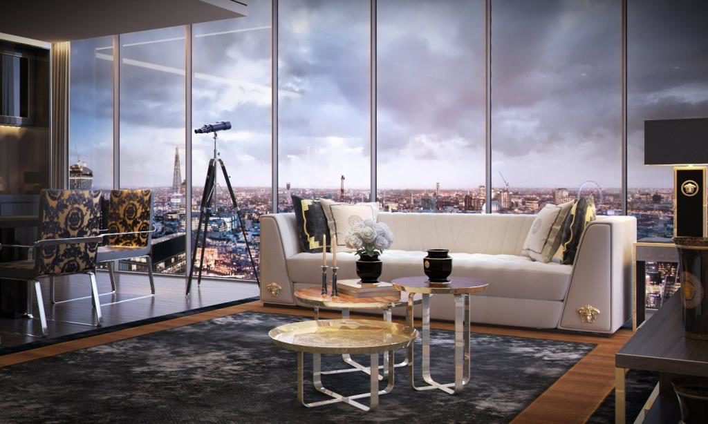 Studio Apartment Damac Tower London By Versace One