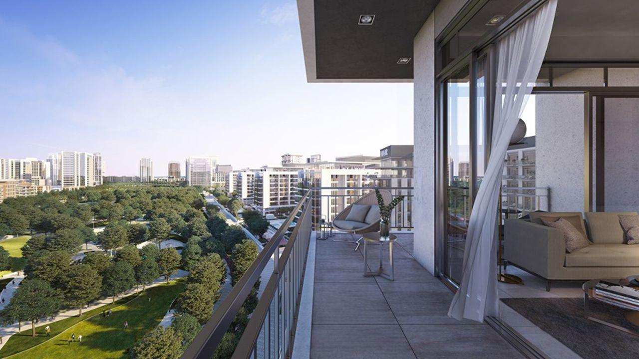 Dubai Park Ridge Apartments Balcony View