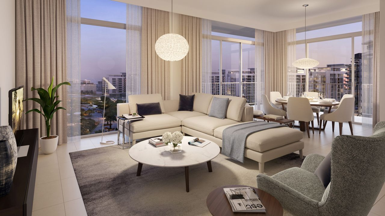 Dubai Park Ridge Apartments Living Area