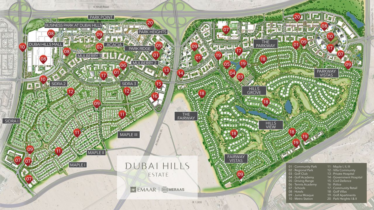 Dubai Park Ridge Apartments Master Plan