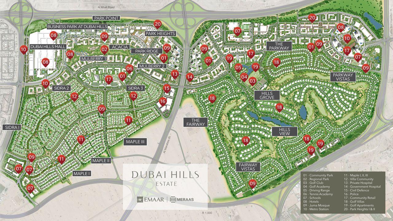 Dubai Park Ridge Apartments Master Plan