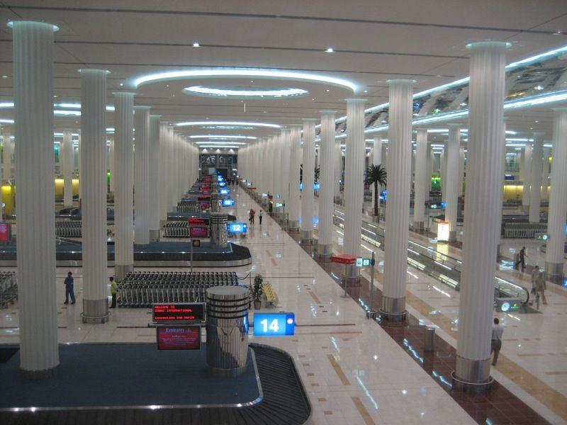 arrivals lounge Dubai airport